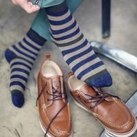 10PCS/LOT socks wholesale Korean Cho on cotton goods brand new casual street style stripe cotton socks men socks paragraph L112