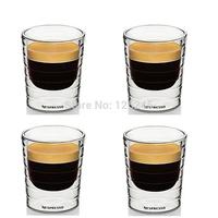 Set of 4 double wall hand-blown glass Nespresso Citiz glass Espresso capsule Thermo Glass 80ml free shipping