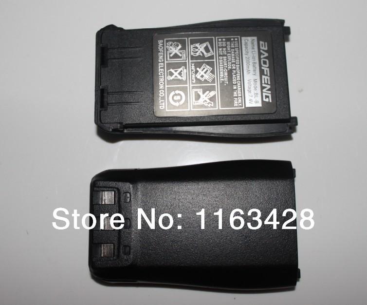 3pcs/lot 100% Original Rechargeable battery pack for BaoFeng walkie talkie UV-B5 UV-B6 two way radio free shipping(China (Mainland))