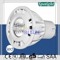 Hot Sale COB 5W Dimmable GU10 led ampoules 3000K 6000K lamp indoor lightings CRI>80 AC200-240V 100pcs/Lot