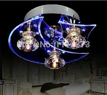 2014 New  LED Modern Crystal Chandelier  3-light Use for living room/Bedroom D24*H12CM(China (Mainland))