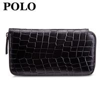 Polo male cowhide commercial clutch crocodile pattern cowhide day clutch wallet general fashion clutch bag