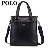 Polo man bag business bag genuine leather cowhide male commercial handbag casual shoulder bag messenger bag