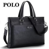 Male polo handbag genuine leather man bag business male bag briefcase messenger bag leather bag horizontal