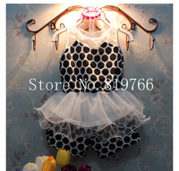 5set/Lot New fashion girl summer set kids clothing polka dot sleeveless tutu dress/shorts 2pcs summer suit children dress set