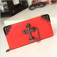 2014 Fashion Women Wallets Famous Designer Brand Female Wallets Korean Long Clutch Purse Women Leather Wallets