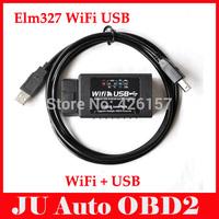 2014 New Arrvial ELM327 WIFI ELM327 USB Scanner Professional Diagnostic Tool elm 327 wifi obd ii Support IPHONE/IPAD/IPOD