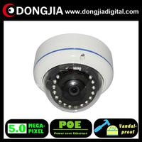 DA-IP8532TD-POE 5 megapixel ip camera, vandalproof IR mini P2P IP dome camera, include POE