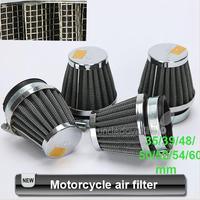 Free Ship 4Pcs/Lot Universal Motorcycle Air Filter New Clamp-on Motorcycle Air Filter Cleaner 35mm,39mm,48mm,50mm,52mm,54mm,60mm