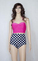 Drop ship New HIGH WAIST Swimwear Push Up Padded Bikini Women's Bathing Suits