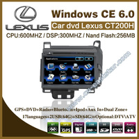 Car DVD for Lexus CT200H with gps navigation radio bluetooth car kit USB audio video Monitor PC stereo Free shipping ES-2409