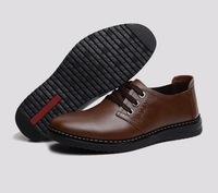 Men's business casual leather male fashion casual fashion shoes genuine leather soft leather breathable shoes size 39-47