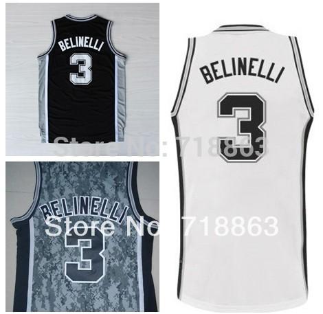 Buy Free Shipping San Antonio Jersey Marco Belinelli #3 Jersey Cheap