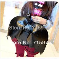 New Gothic Black Bat Wing women Backpack Angel leather school backpacks bolsas femininas GIFTS Free of Charge Value $4.99