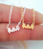 Wholesale 10pcs/lot-2015 Gold/Silver Minimalist Jewelry Vintage Tiny Batman Statement Chain Bracelet