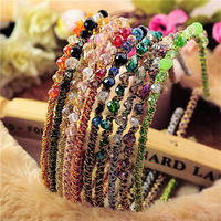 10Pcs colorful Noble crystal Headband Hairpin jewelry hair accessories Free Shipping