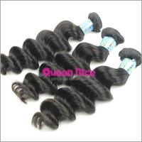 6A Peruvian Virgin Hair Loose Wave Bundles Unprocessed 6A Virgin Human Hair Weave More Wavy