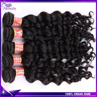 Rosa hair products peruvian virgin hair loose wave 3pcs lot unprocessed virgin human hair weave wavy #1b ms lula peruvian hair