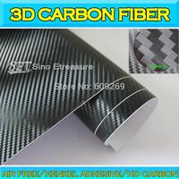 3D High Definition Carbon Fiber Foil HD Textured Vinyl Foil Car Vinyl Wrap with Air Drain Air Free Bubble 1.52x30m