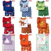 2014 New kids short clothes set   boys girls kids short  pajama set,cartoon  children pyjamas,baby toddler sleepwear 2T-7T