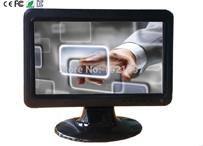 2014 NEW! Ex-factory price! 10 inches high definition touch screen LCD monitor HDMI VGA DVI connector free shipping(China (Mainland))