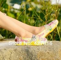 brand wholesale Free shipping Mix color Women's classic flats canvas shoes 2014 new plain Leopard Glitter canvas Shoes
