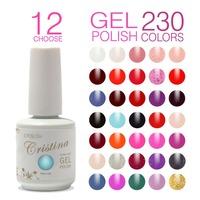 Choose 12 pieces In New 230 colors Cristina Soak Off UV nail Gel Polish 15ml 0.5oz Nail Gel Free Ship