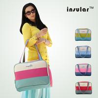2014 NEW !Baby Nappy Bags/Mother Messenger Bag/Maternal Diaper Bag/Multifunctional Large Capacity/Handbag/Stripe Style/Retail 1