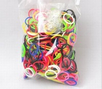 120packs (600 color mix pack) Gift Loom Kits Fun Loom Rubber Bands Kit DIY Bracelets Colorful Children Toy Gift