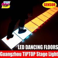 9pcs/Lot Led Sensor Dance Floor Pressure Resistant 300KG WaterProof IP67 Led Inductive Dancing Floor Light 33*33cm for One Piece