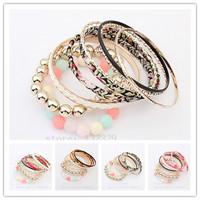 2014 best-selling bracelets!Fashion temperament multilayer bracelets & bangles free shipping