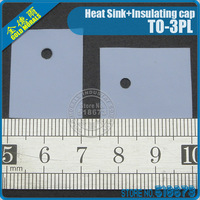 100Pair/lot Insulation Bushing Silicon Rubber Pad For TO-3PL Package Heat Sink + Insulating cap