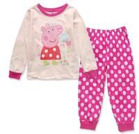 Peppa Pig Pajama Set 1PCS Pijama Kids Baby Cartoon Animal pajamas Boys Girls Pajamas Autumn 2014