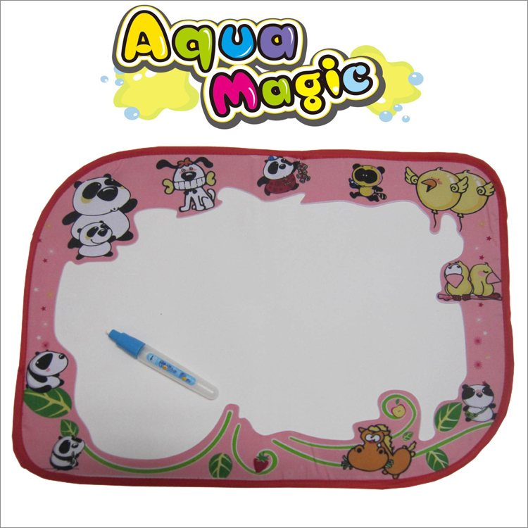 Free shipping 46x32cm Water Drawing Toys Mat Aquadoodle Mat&1 Magic Pen/Water Drawing board/baby play mat(China (Mainland))