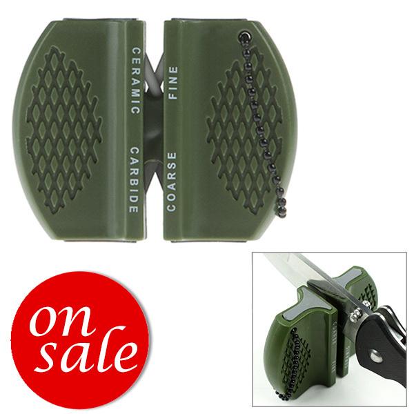 2pcs/lot FREE SHIPPING mini camping pocket outdoor ceramic tungsten steel knife blade sharpener sharpening tool(China (Mainland))