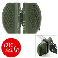 2pcs/lot FREE SHIPPING mini camping pocket outdoor ceramic tungsten steel knife blade sharpener sharpening tool