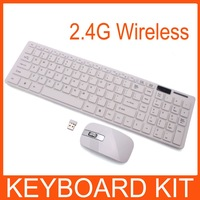 1set 2.4G White wireless keyboard and mouse Keypad Film Kit For DESKTOP PC Laptop New 80426