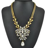 2014 New Shourouk Vintage Statement Necklace Wholesale Fashion Brand Chunky Chain Necklaces & Pendants Choker jewelry