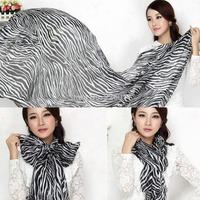 15pcs Zebra Printed Chiffon Women Girls Soft Smooth Trendy Long Scarf New FreeShipping Brand New