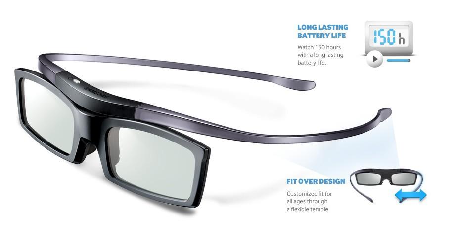 3 peças / lote 3d inteligentes SSG5100 Óculos Bluetooth para todos Samsung 2013,2012 e 2011 D , E, ES e série F TV 3D frete grátis(China (Mainland))