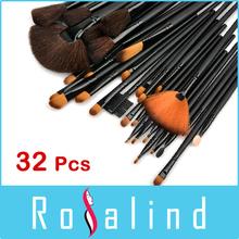 Rosalind Professional 32 Pcs Makeup Brushes High Quality Facial Cosmetic Kit Beauty Bags Set Makeup