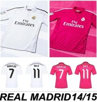 New arrival 14/15 real madrid Home white ss best quality fans version soccer football jersey, real madrid soccer football jersey