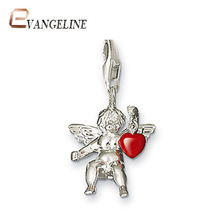 Free Shipping diy ts fashion charms bracelet alloys fashion enamel jewelry Cupid  pendant TS765