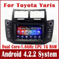 Android 4.2 Car DVD Player for Toyota Yaris 2005-2011 wi/ GPS Navigation Radio TV BT CD SD USB DVR Video 3G WiFi 1.6G CPU+1G RAM