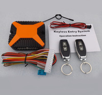 Hot sale  high quality Universal Car  Keyless Entry Remote locking systems with 2 Remote Controllers Free shipping
