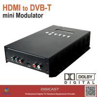 mini digital DVB-T Modulator for HD video encoding and DVB-T modulation