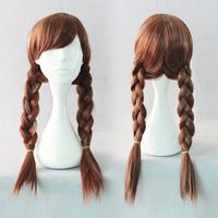 Popular Movie wig princess 100% korean heat resistant synthetic braiding hair cosplay Animation wig
