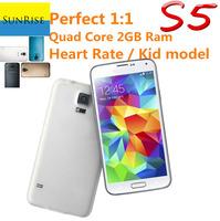 "S5 PHONE G900 Phone Fingerprint Perfect 1:1 MTK6582 Quad  Core 5.1"" IPS Screen 2GB Ram quad core 16MP Healthcare free shipping"