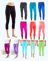 2015  Super quality Wholesale LULU Yoga Gym Capris Yoga  Crop  wunder under Crops/leggings Candy color Canada brand Canday color