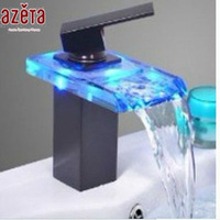 2014 New Design Brass Waterfall Led Faucet  MK2106JOB
